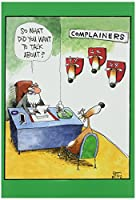 ComplainersクリスマスFunny Greeting Card 1 BLANK Card & Envelope (SKU:1540K)