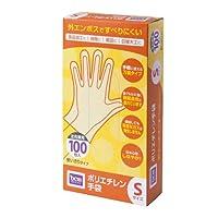 ポリエチレン 手袋 HI06T80 S 100枚入 S
