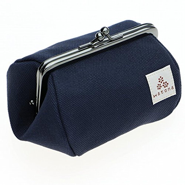 エスカレーターロールナインへwatona 帆布がま口 化粧ポーチ 3.5寸Sサイズ