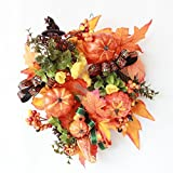 山久 かぼちゃがいっぱいのハロウィン リース 1908-2818 【CT触媒加工】【シルクフラワー】【造花】