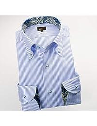 RSD696-002 (スタイルワークス) メンズ長袖ワイシャツ ストライプ | 青