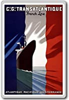 New Vintage Transatlantique France, Europe vintage travel fridge magnet - ?????????