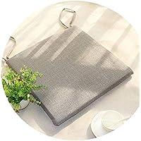 リネンオフィスの畳のクッションマット夏の通気性のシンプルな家庭食卓のクッション,(正方形)洗える/灰色,直径50*50*厚4cm