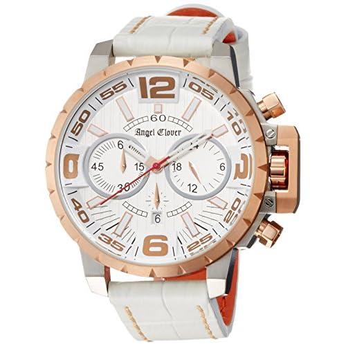 [エンジェルクローバー]Angel Clover 腕時計 タイムクラフト シルバー文字盤 クロノグラフ NTC48PG-WH メンズ