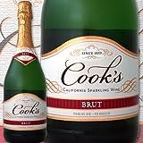 クックス・ブリュット・カリフォルニア アメリカ 白スパークリングワイン 750ml やや辛口