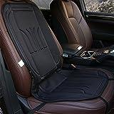 NoYuo あったか ホットカーシート 12V 二段階温度切り替え 車載 シートヒーター 通 気性 座席ヒートクッション 脱着簡単 ブラック