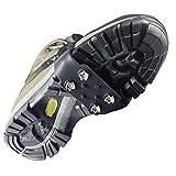YUEDGE 4本爪 アイゼン スノースパイク スノーチェーン 滑り止め ステンレス製 装着簡単 収納ポーチ付き(ブラック)