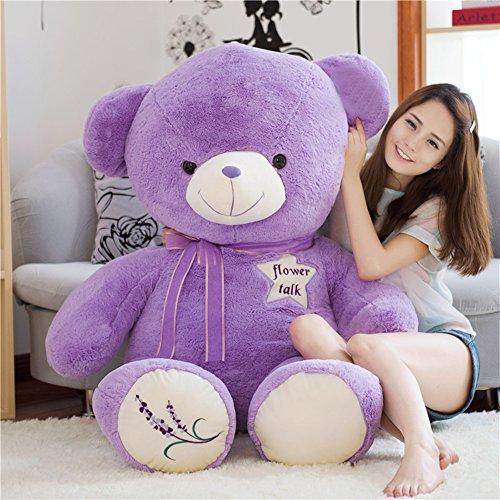 IKASA ぬいぐるみ 特大 くま テディベア 可愛い熊 動物 大きい くまぬいぐるみ 熊縫い包み クマ 抱き枕 お祝い ふわふわ  お人形 女の子 男の子 子供 女性 抱き枕 プレゼント ビッグサイズ 120CM ラベンダーの香り
