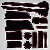 KINMEI(キンメイ) ホンダ N-WGN 赤 専用設計 インテリア ドアポケット マット ドリンクホルダー 滑り止め ノンスリップ 収納スペース保護 ゴムマットHONDA N ワゴンnw-a