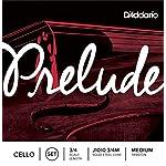 D'Addario Prelude Cello String Set 3/4 Scale Medium Tension [並行輸入品]