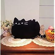 【ELEEJE】 ふわふわ モコモコ やわらか 猫 ちゃん クッション ぬいぐるみ や 抱き枕 にも ピッタリ! (黒猫)