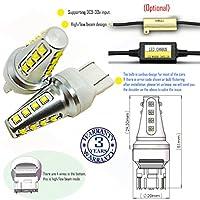 Wiseshine 7443 W21 5W T20 led 電球 DC9-30v 3年間の品質保証(2パック) 7443 16 led 高効率 青