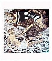 ポスター エバン ハリス barnacles & butterflies 額装品 アルミ製ハイグレードフレーム(ホワイト)