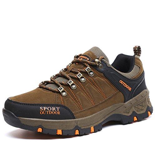 男女兼用 誠実な底 登山鞋 スキミング防止 防水 4色の選択可 ブラウン JP250