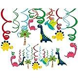 ゴシレ Gosear 30ピースぶら下げ渦巻きカードスパイラルオーナメント恐竜テーマパーティー用品装飾用キッズ子供誕生日ベビーシャワーホーム寝室の装飾