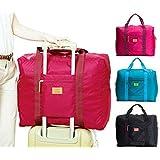 キャリーバッグの上に乗せるバッグ BAG on BAG バッグオンバッグ たっぷり収納 トラベル ビジネス 出張 (レッド)