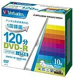 三菱ケミカルメディア Verbatim 1回録画用DVD-R(CPRM) VHR12JP10V1 (片面1層/1-16倍速/10枚)