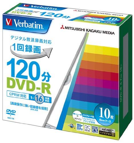 三菱ケミカルメディア Verbatim 1回録画用DVD-R...