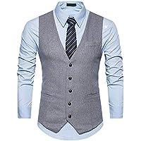 Mens V-neck Vest 5 Buttons Single-breasted Slim Fit Formal Business Vest