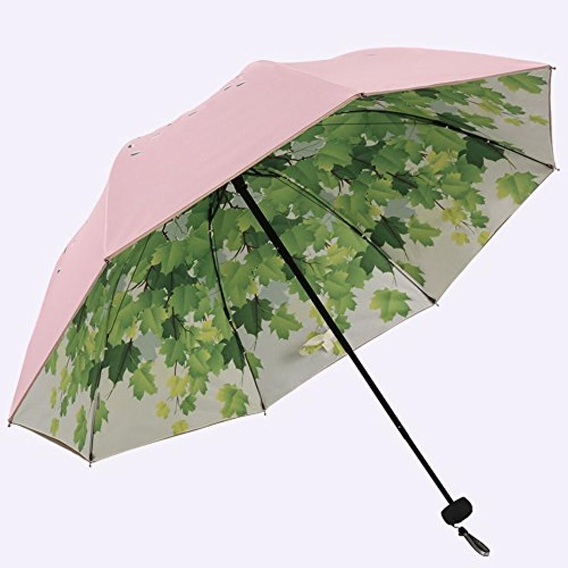 満足防腐剤お風呂を持っているXRXY 折りたたみ可能なリフレッシュサマーサン傘/創造性アンチUV二重使用印刷傘/旅行ポータブル傘(5色使用可能) ( 色 : C )