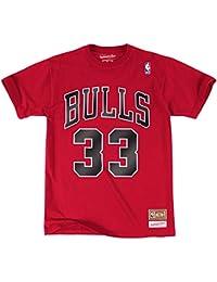 スコッティ?ピッペンシカゴブルズ# 33 NBAメンズName & Number Tシャツ( 4 x l )