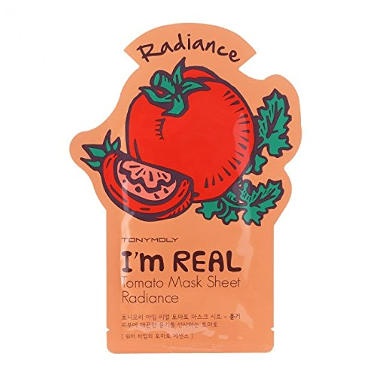 人種ひそかに錫(6 Pack) TONYMOLY I'm Real Tomato Mask Sheet Radiance (並行輸入品)