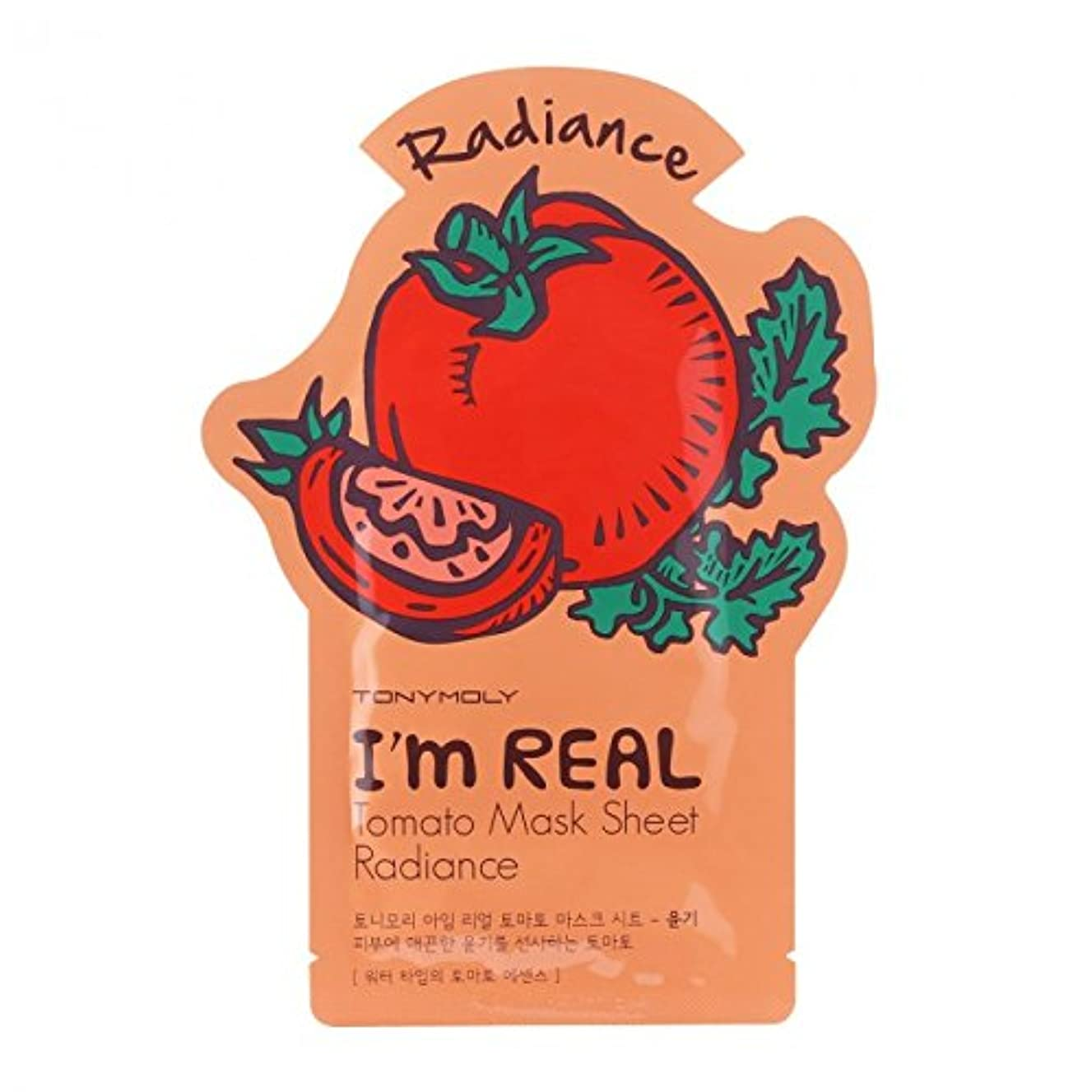 悲劇的な置換自宅で(3 Pack) TONYMOLY I'm Real Tomato Mask Sheet Radiance (並行輸入品)