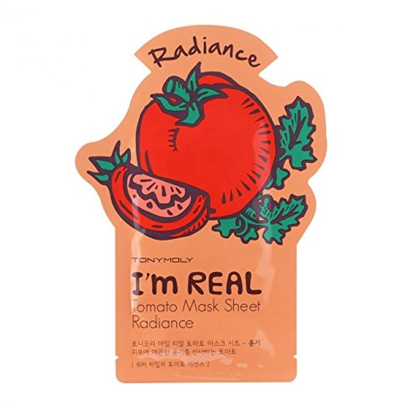 スキーム私たちのもの補う(3 Pack) TONYMOLY I'm Real Tomato Mask Sheet Radiance (並行輸入品)