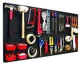 工具 壁掛けボード 4枚セット ツール固定ペグ 43個付属