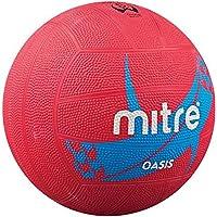 Mitre Oasis Mouldedゴム18パネル一致トレーニングインドアアウトドアネットボールレッド