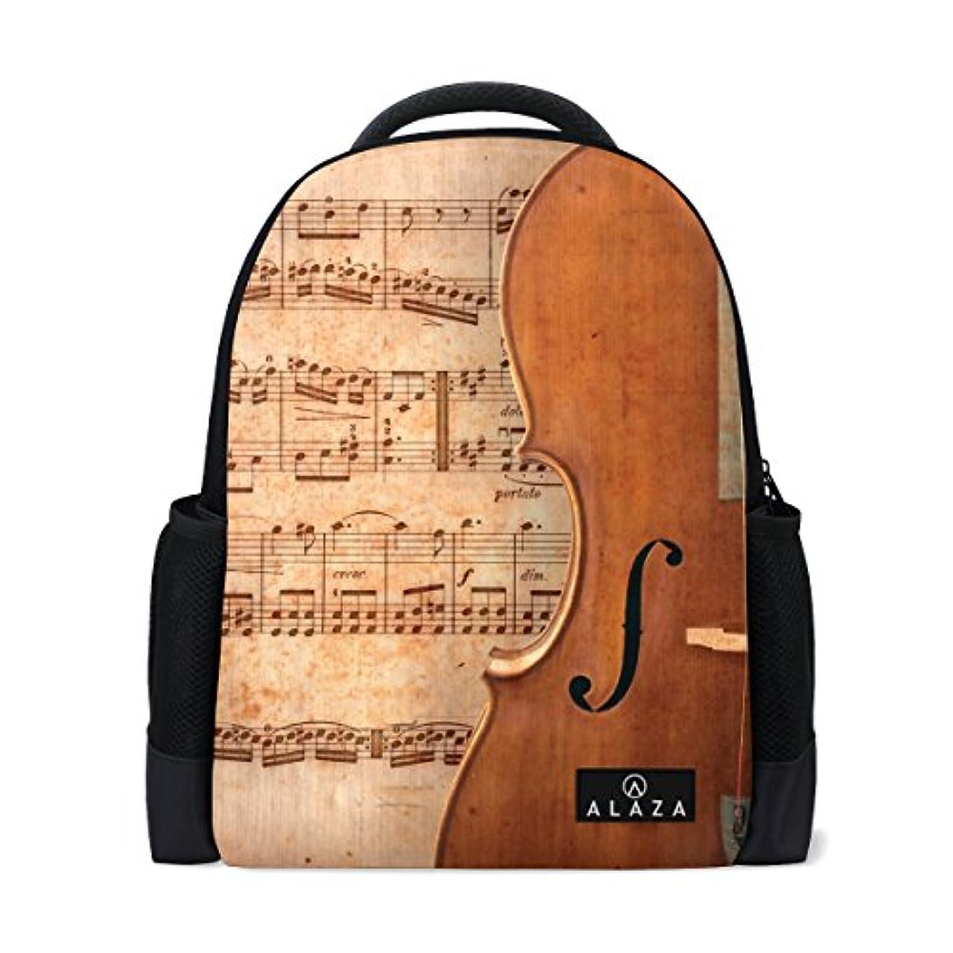 大声でモナリザオールVAWA リュック リュックサック 大容量 おしゃれ かわいい 音楽 音符 楽譜 五線譜 バイオリン 防水バッグ バックパック 多機能 通勤 通学 旅行 登山ザック 男女兼用