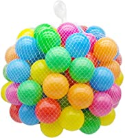 カラーボール おもちゃ オーシャンボール直径5.5cm 組み合わせ玩具 室内 公園知育玩具 (カラー, 50pcs)