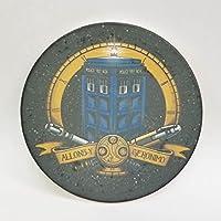 セラミックストーンコースターコースターセットの4つの–6Eyed Monster–時間Travelling警察ボックス