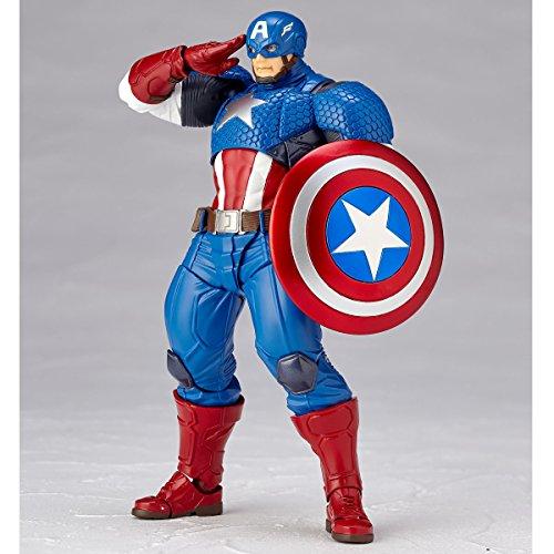 figure complex AMAZING YAMAGUCHI Captain America キャプテン・アメリカ 約163mm ABS&PVC製 塗装済みアクションフィギュア リボルテック