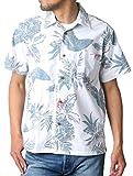 [ルーシャット] アロハシャツ コットン 裏使い 総柄プリントシャツ 柄A LL
