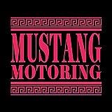 マスタング モータリング ステッカー ショッキングピンク 濃桃