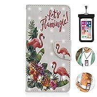 iPhone 8 plus ケース アイフォン 手帳型 耐衝撃 耐摩擦 レザーケース 財布型 カード収納 マグネット式 保護ケース 軽量 スマホケース スマートフォンケース 全面保護 [無料付防水ポーチ水泳など適用]