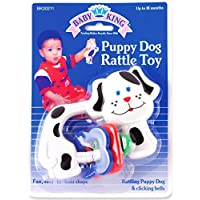 Baby King Puppy Dog Rattle Toy White [並行輸入品]