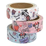 ミッキー&フレンズ[マスキングテープ]和紙デコテープ3巻セット/ワード ディズニー