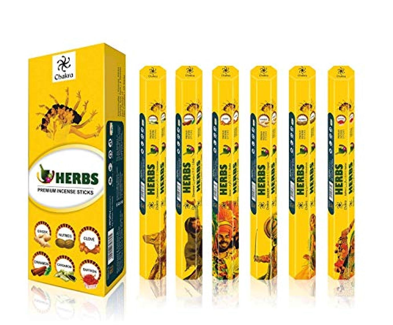 効能ある叱る手足HerbプレミアムFragrance Sticks – PleasantとPeaceful天然Incense Sticks – プレミアム品質アロマSticks – 20 Sticks perボックス – パックof 6...