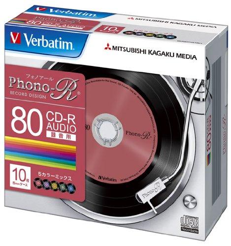三菱化学メディア Verbatim 音楽用CD-R 80分 1回録音用 「P...