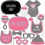 Baby Girl – ベビーシャワー写真ブース小道具キット – 20カウント