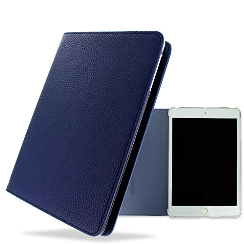 なめらか例同盟whitenuts iPad mini 2 ケース 手帳型 レザー風 30色 07 ネイビー