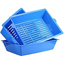 3 in 1 Self Sifting Tray Cat Litter Box Simple Stylish Antimicrobial Pet Cat Toilet Training Tray