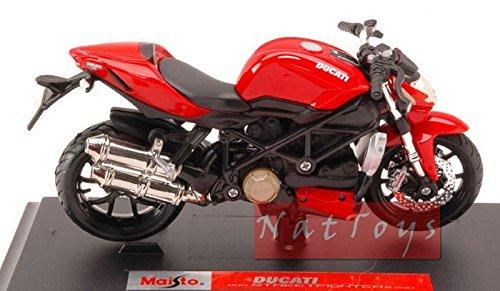 マイストmi39300s Ducati Streetfighter S 2010レッド/ブラック1: 18Modellino Die Cast