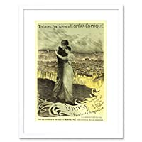 Theatre L'opera Comique Louise Parise France Advertising Framed Wall Art Print