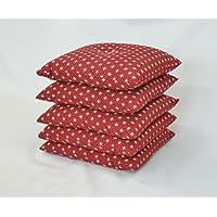 永くご愛用いただけるよう心を込めて仕上げています!職人の技が光る一品! 刺子柄座布団(5枚組) 赤 日本製