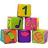 MILICOCO ビルディングブロック 教育玩具 文字スタイル パズル組み立て 布製 立体パズル 知育玩具 幾何認知 図形認知 ソフト 脳アクティビティ 安全 子供 幼児用 お誕生日ギフト 出産祝い