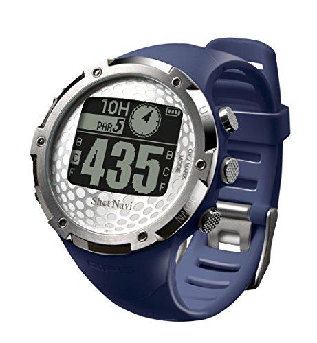 ショットナビ(Shot Navi) ゴルフナビ GPS 腕時計型 ネイビー 日本プロゴルフ協会推奨 SN-W1-FW