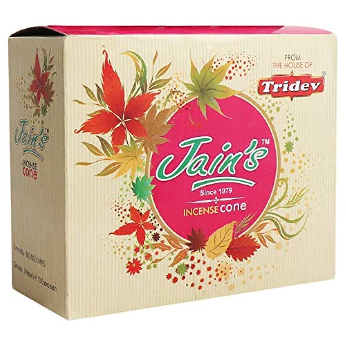 ケイ素エクステント代表団Jain's Assorted Incense Cone/Dhoop Cone Pack of 7 (10 Dhoop Cones Each and 1 Dhoop Stand Per pkt), Organic and...